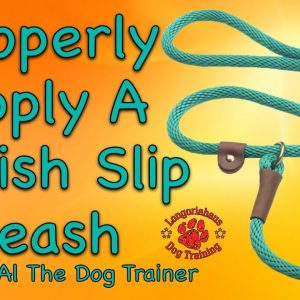 How To Properly Apply A British Slip Leash - Tips From Al The Dog Trainer